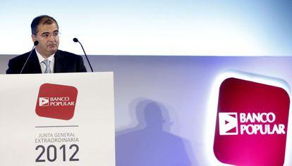 Ángel Ron, en la junta de accionistas de 2012.
