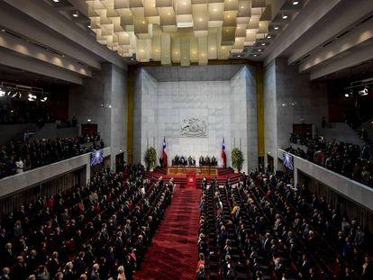 Vista general del congreso de Chile.