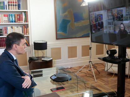 Pedro Sánchez, presidente del Gobierno. En vídeo, Sánchez anuncia el decreto del estado de alarma.