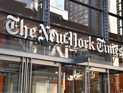La fachada del edificio del 'The New York Times', en Nueva York.