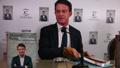 Manuel Valls, durante la presentación de su libro.
