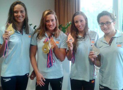 Las medallistas españolas en los Europeos.