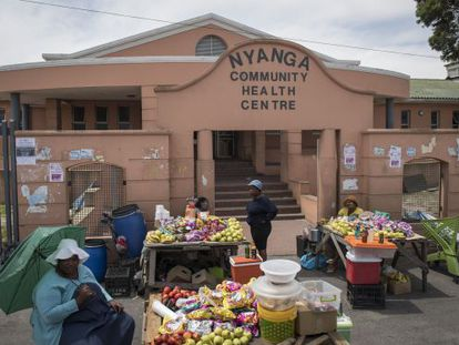 Centro de salud de Nyanga, suburbio de Ciudad del Cabo.