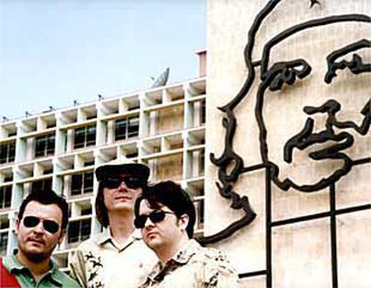 The British rock band, Manic Street Preachers, in Havana, where they played before Fidel Castro, in 2001.