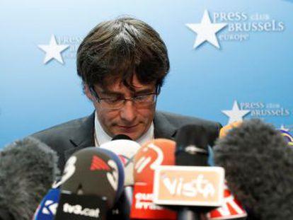 Puigdemont pretende seguir alimentando el procés desde Bruselas