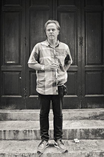 <b>El diseñador gráfico David Carson, en su reciente visita al Surfilm Festibal de San Sebastián.</b>