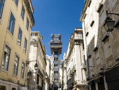 El elevador de Santa Justa, en Lisboa, es uno de los ascensores más fascinantes del planeta.