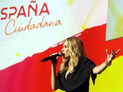Marta Sánchez, en el acto de España Ciudadana.