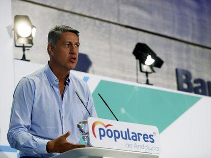 Xavier García Albiol, alcalde de Badalona, en la clausura del Consejo de Alcaldes del PP celebrada este finde de semana en Málaga.