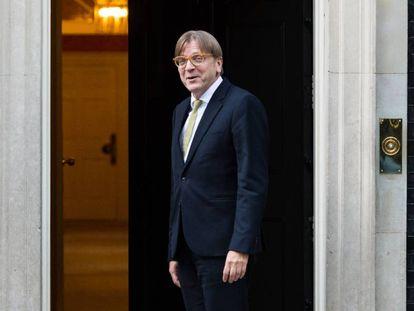 Guy Verhofstadt llega al 10 de Downing Street para reunirse con May, en septiembre de 2018.