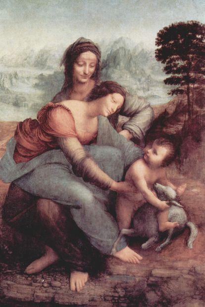 <i>La Virgen, el niño Jesús y Santa Ana, </i>de Leonardo da Vinci.