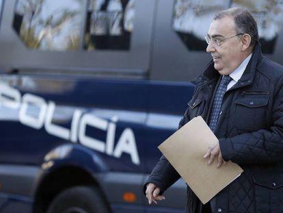 El comisario Enrique García Castaño, 'El Gordo', a su llegada a la Audiencia Nacional el pasado martes.