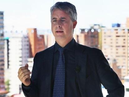El financiero italiano Andrea Zanon, creador de la plataforma de criptomonedas Nimbus, en Colombia en 2020.