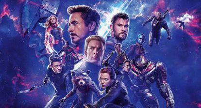 Cartel de promoción de 'Vengadores: Endgame'.