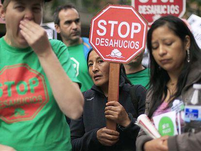 Manifestación de la PAH por el derecho a la vivienda, en 2013 en Madrid.