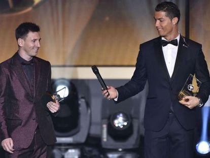 Ronaldo y Messi, en la gala.