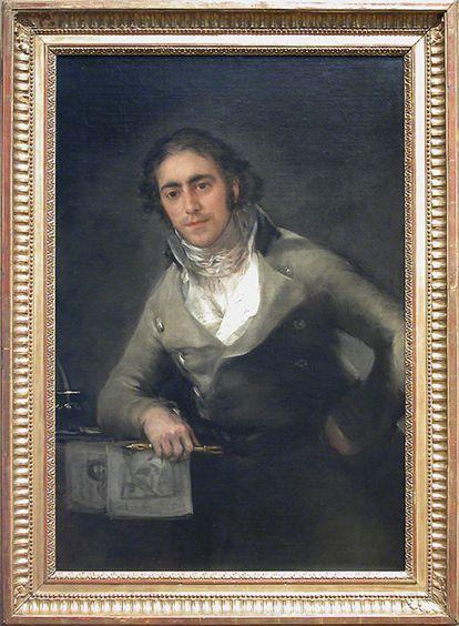 Retrato de Evaristo Pérez de Castro, pintado por Goya, que se expone en el Museo Louvre de París.