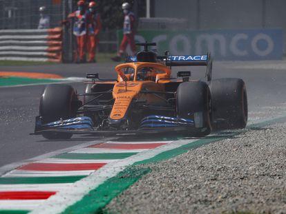 Carlos Sainz, este sábado en el circuito de Monza.