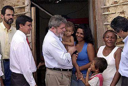 El presidente de Brasil, Lula da Silva, durante una visita que realizó el pasado enero a un poblado al norte de Brasil.