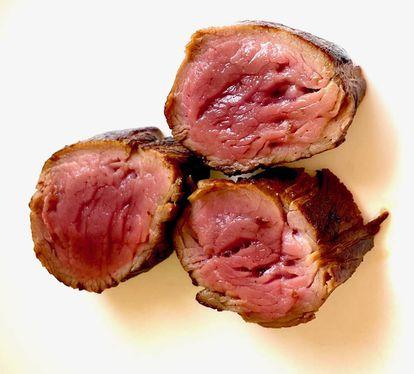 Solomillo de cerdo pío negro a la plancha. J. C. CAPEL