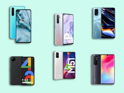 Seleccionamos los seis mejores móviles de gama media de 2020 de marcas como Xiaomi, Huawei o Samsung, entre otros.