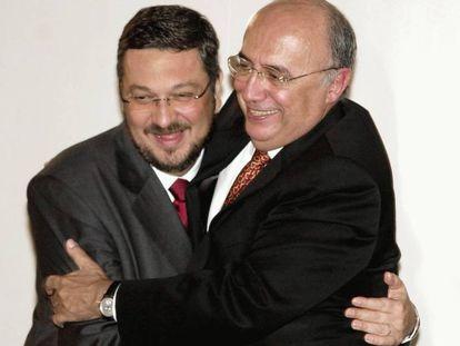 Antonio Palocci y Henrique Meirelles, en 2003.
