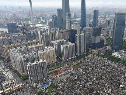 El centro financiero de Cantón (China.