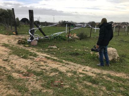 El terreno rural de El Puerto de Santa María en el que este pasado lunes un sobrino atropelló a su tío tras una discusión por unas lindes.