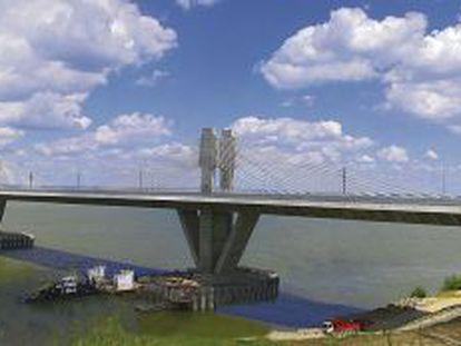 Puente de Vidín-Calafat sobre el río Danubio, construido por FCC
