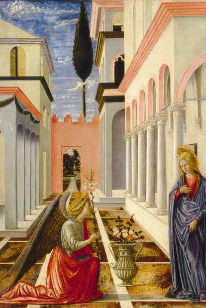 <i>La Anunciación </i>(1448), tabla del pintor italiano Fra Carnevale.