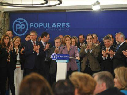 María Dolores de Cospedal en un acto del Partido Popular.