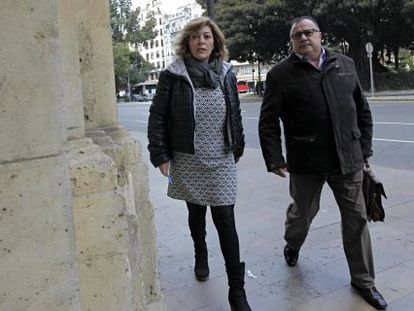 La exdirectora general de Promoción Institucional de la Generalitat Valenciana Dora Ibars a su llegada al TSJCV.