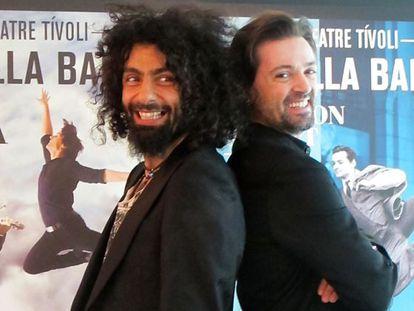 Ara Malikian (izquierda) y Ángel Corella, ayer en Barcelona.