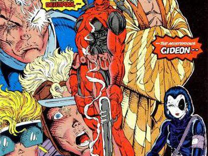 La primera aparición de Masacre y Dominó en 'Nuevos Mutantes 98'.