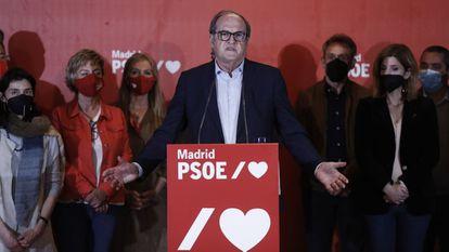 Ángel Gabilondo, el pasado martes tras conocer los resultados de las elecciones en Madrid.