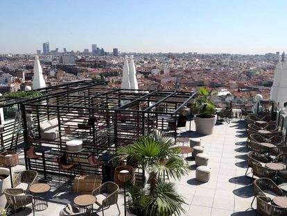 Las vistas desde el piso 27 del Hotel Riu, en el Edificio España de Madrid