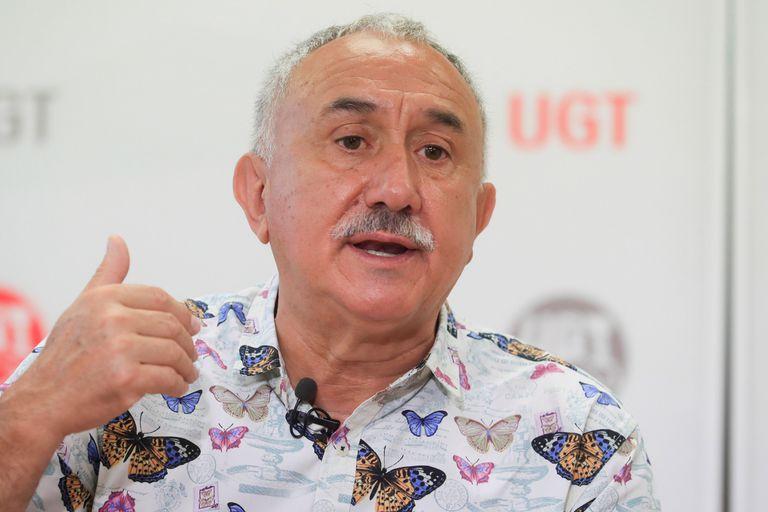 El secretario general de UGT, Pepe Álvarez, durante la entrevista con EFE.