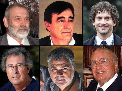 Francisco Pellón, Calixto Sánchez, Paco León, Enrique de Melchor, Benito Zambrano y Pedro Escacena.