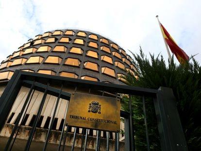 La sede del Tribunal Constitucional, en Madrid, el pasado 16 de julio.