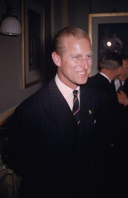 Felipe de Edimburgo, fotografiado por Slim Aarons en el Royal Albert Hall hacia 1955.