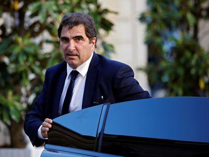 El político de Los Republicanos, Christian Jacob, a su llegada a una reunión de su partido, el 20 de mayo de 2020 en París