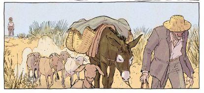 Ilustración de 'Intemperie'.