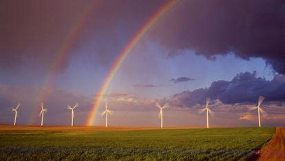 Parque eólico de Iberdrola en Klondike (Oregón, EE UU)