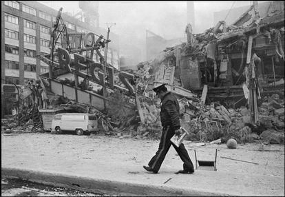 El Hotel Regis, que colapsó en el terremoto de 1985 en Ciudad de México.