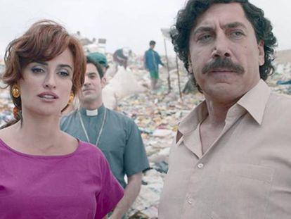 Penélope Cruz, como Virginia Vallejo, y Javier Bardem, como Pablo Escobar, en 'Loving Pablo', de Fernando León de Aranoa. En vídeo, el tráiler de la película.