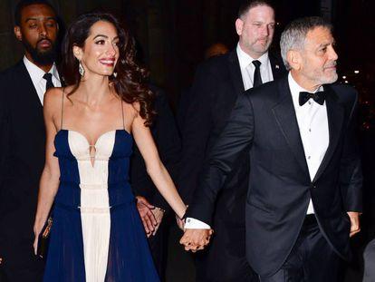 Amal y George Clooney, el pasado miércoles.