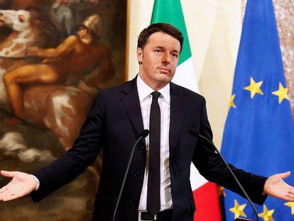 El primer ministro italiano, Matteo Renzi .