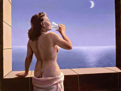 Magritte, 'Las profundidades del placer', 1947.