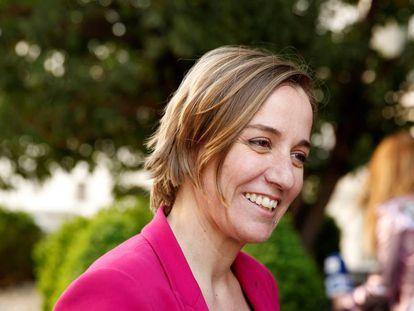 Tania Sánchez, antes de las elecciones autonómicas.