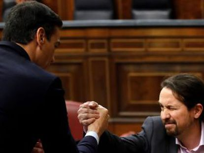 El líder de Podemos promete revertir  los derechos arrebatados